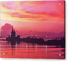 Temple On The Sea Acrylic Print