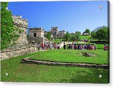 Temples Of Tulum Acrylic Print
