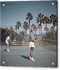 Tennis In San Diego Acrylic Print by Slim Aarons