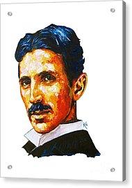 Tesla - Pure Genius Acrylic Print