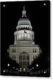 Texas Capitol II - Austin Acrylic Print by Borsheim