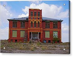 Texas Ghost Town School  Acrylic Print