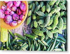 Thai Market Vegetables Acrylic Print