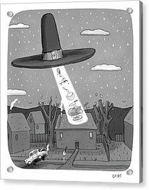 Thanksgiving Aliens Acrylic Print