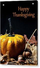 Thanksgiving Dinner Invitation Card. Acrylic Print