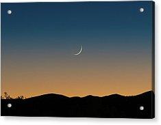 That Desert Moon Acrylic Print
