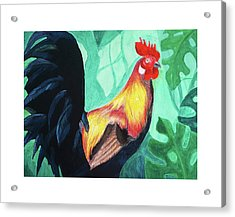 Acrylic Print featuring the digital art That Rooster by Lucas Boyd