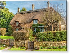 Thatched Cottage In Chipping Campden, Gloucestershire Acrylic Print by David Ross