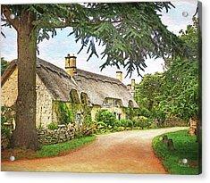 Thatched Roof Lane2 Acrylic Print by Joe Winkler