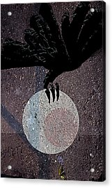 Acrylic Print featuring the digital art The Abduction Of The Moon by Attila Meszlenyi