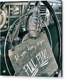 The Art Of Pulling Pins Acrylic Print by Steven Digman