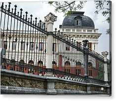 The Back Of The Ministry Of Agriculture Building In Madrid Acrylic Print
