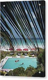 The Bahamas Acrylic Print by Slim Aarons