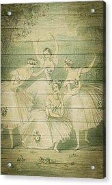 The Ballet Dancers Shabby Chic Vintage Style Portrait Acrylic Print