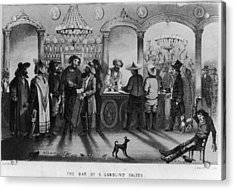 The Bar Of A Gambling Saloon Acrylic Print by Fotosearch