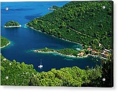 The Bay At Prozurska Luka, Mljet Acrylic Print by Russ Bishop