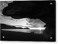 The Beach Of The Sculptures At Dawn In Almeria Acrylic Print