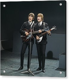 The Beatles Perform On Shindig Acrylic Print by David Redfern