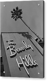The Beverly Hills Hotel Acrylic Print by George Rose
