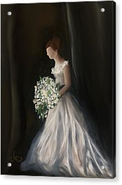Acrylic Print featuring the painting The Big Day by Fe Jones