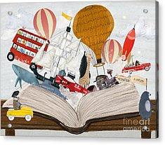 The Big Magic Adventure Book Acrylic Print by Bri Buckley