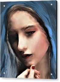 The Blue Scarf Acrylic Print