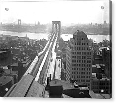 The Brooklyn Bridge Acrylic Print by New York Daily News Archive