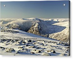The Cairngorms In Winter Acrylic Print by Duncan Shaw