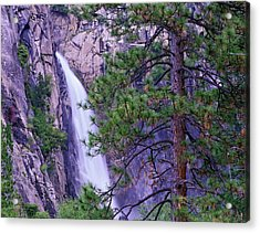The Cascades From Yosemite National Acrylic Print by Tim Fitzharris/ Minden Pictures