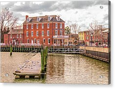 Acrylic Print featuring the photograph The Central Hotel - Delaware City by Kristia Adams