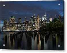 The City Alight Acrylic Print