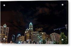 The City Lights Up Acrylic Print