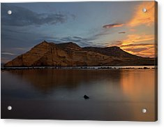 The Closed Cove In Aguilas At Sunset, Murcia Acrylic Print