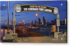 The Coronado Ferry Landing Acrylic Print