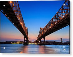 The Crescent City Connection Bridge On Acrylic Print