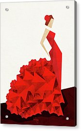The Dancer Flamenco Acrylic Print