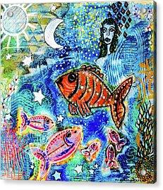 The Day The Stars Fell Into The Ocean Acrylic Print