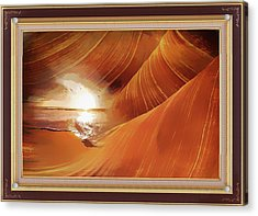 The Desert And The Tide Fantasy Acrylic Print