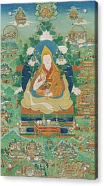 The Fifth Dalai Lama's Descent From The Pure Lands Acrylic Print
