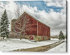 Acrylic Print featuring the photograph The First Snow by Kim Hojnacki