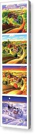 The Four Seasons Vertical Format Acrylic Print