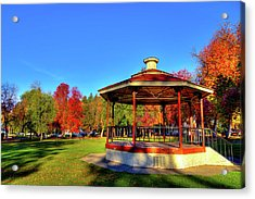 Acrylic Print featuring the photograph The Gazebo At Reaney Park by David Patterson
