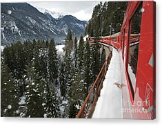 The Glacier Express Acrylic Print