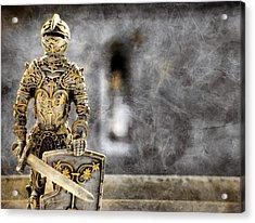 The Golden Miniature Knight Acrylic Print