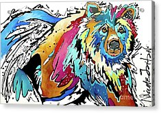 The Grizzly Details Acrylic Print