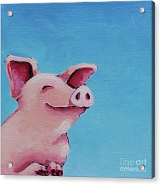 The Happiest Pig Acrylic Print