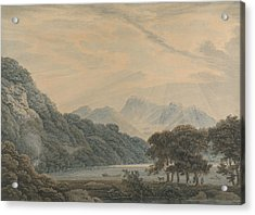 The Head Of Ullswater, With The Lodge Of Patterdale On The Left Acrylic Print
