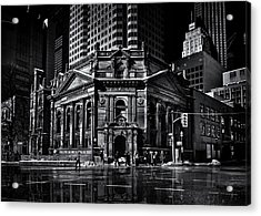 The Hockey Hall Of Fame Toronto Canada Reflection Acrylic Print by Brian Carson
