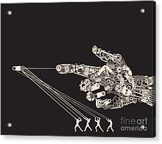 The Instrument Of Wars Are Man Made Acrylic Print