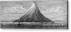 The Island Of Krakatoa Acrylic Print by Kean Collection